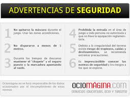 advertencias de seguridad paintball